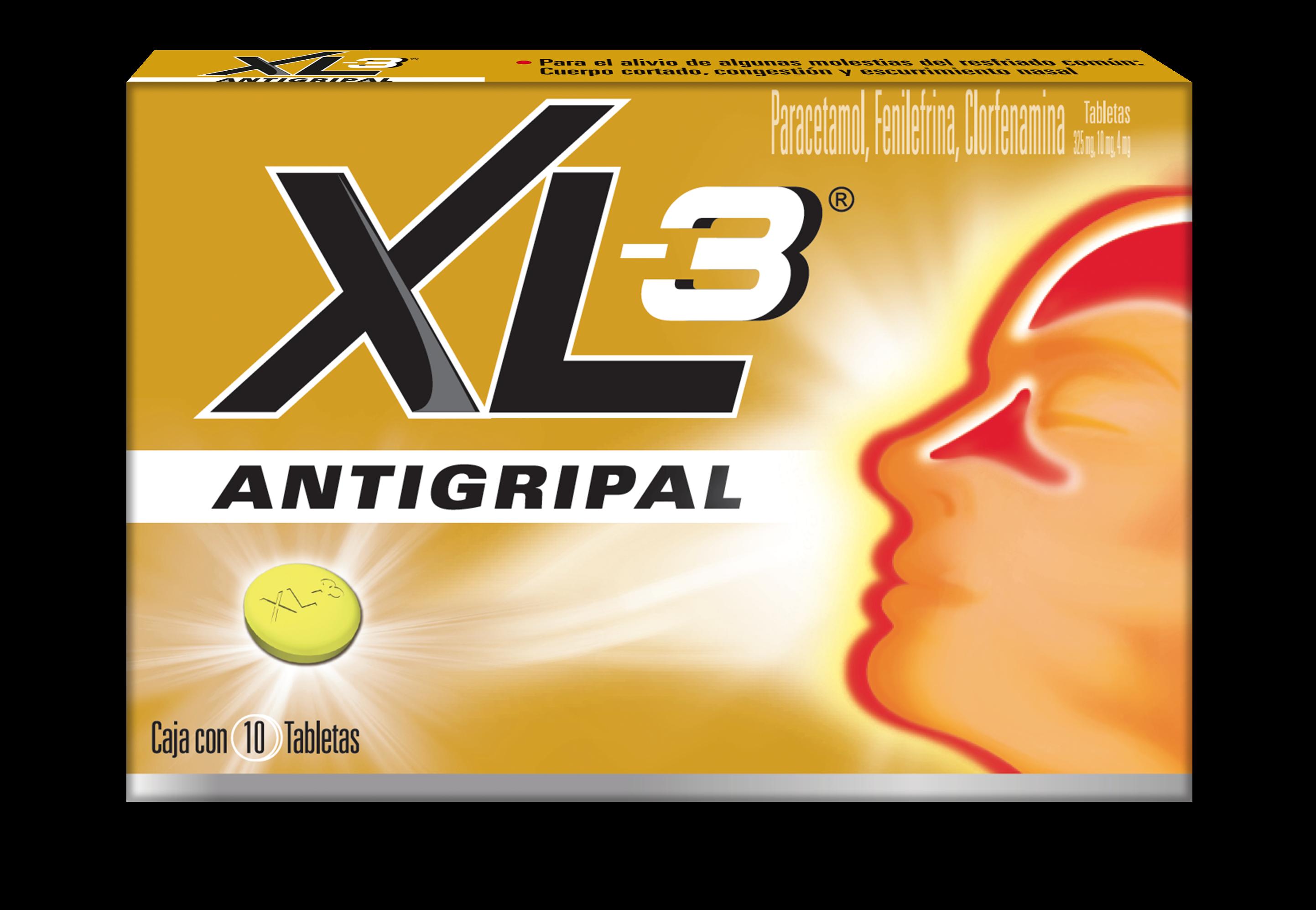 XL-3 Antigripal 10 Tabletas