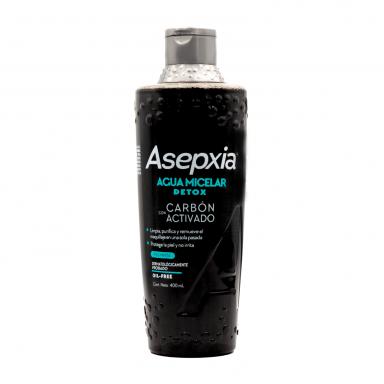 Asepxia Agua Micelar Carbón Détox 400 ml
